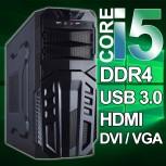 PC- (6 Generation ) i5-6500-4x3,2GHz - DDR4-16GB -240GB-SSD/DVD/Win.10