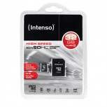 SDCard 32GB intenso C10 inkl.SD Adapter